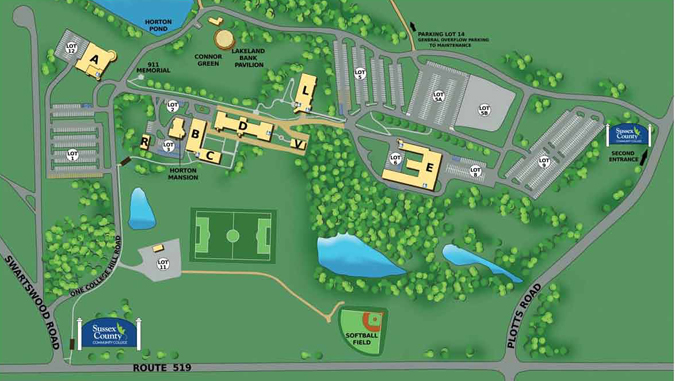 sussex county community college campus map Maps Directions