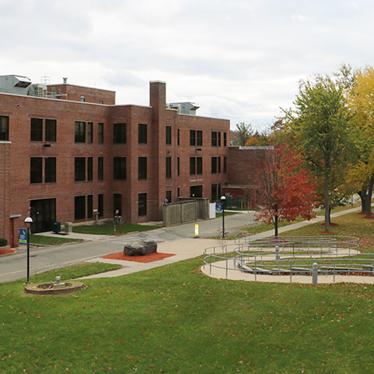 View of the Student Center from the Library