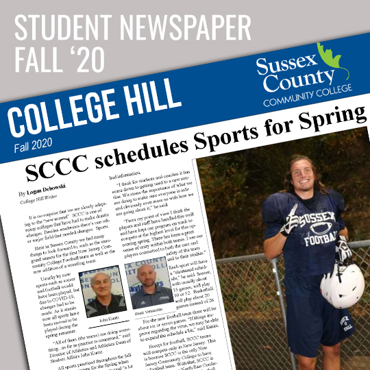 Image of the front of the College Hill, student newspaper